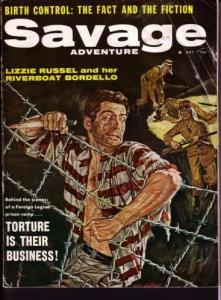 SAVAGE ADVENTURE-FOREGIN LEGION PRISON CAMP ESCAPE-PULP VG