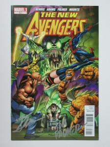 New Avengers (Marvel 2011) #16.1 Signed by Neal Adams and Tom Palmer Cover
