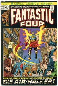 FANTASTIC FOUR #120 1972- THE AIR WALKER-BLACK COVER-FF VG/