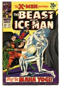X-MEN #47 1968-MARVEL COMICS-BEAST & ICEMAN-WERNER ROTH