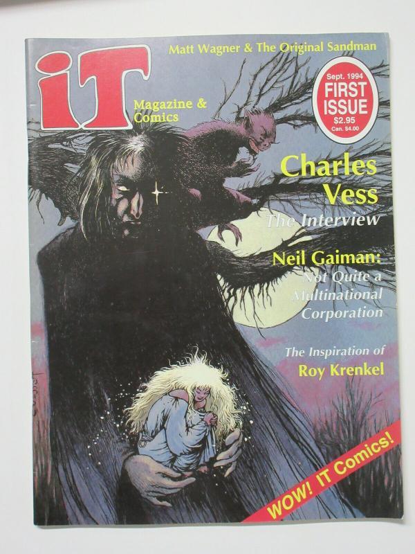 It Magazine and Comics Issue 1 Sept. 1994 Charles Vess Neil Gaiman Matt Wagner