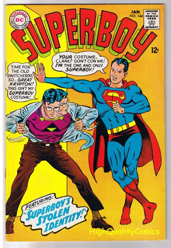 SUPERBOY #144, VF, Lost Identity, Smallville, 1949, more in store