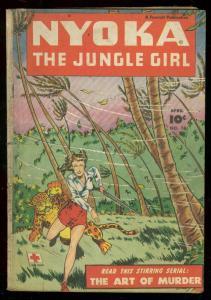 NYOKA THE JUNGLE GIRL #18 1948-LEOPARD ATTACK-KRIGSTEIN G-