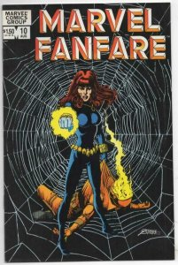MARVEL FANFARE #10 VF Black Widow Perez 1982 1983 more Marvel in store