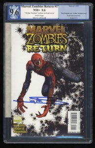Marvel Zombies Return #1 PGX NM+ 9.6 White Pages Signed by Arthur Suydam!