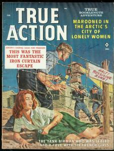 TRUE ACTION FEB 1962-SPICY PRISON ESCAPE COVER-BAMA ART VF