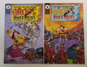 Groo And Rufferto #1-4 Complete Set High Grade NM Dark Horse 1998