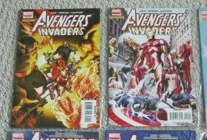 Complete Set Avengers Invaders #1-12 VF+ Marvel Comic Books Iron Man Spider-Man