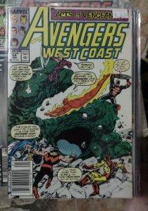 avengers west coast # 54 1989 marvel wandavision disney wonder man usagent capta