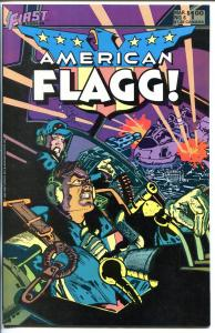 AMERICAN FLAGG #6 1984-FIRST-SIGNED-HOWIE CHAYKIN-nm