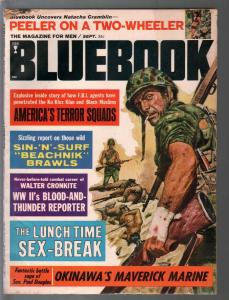 Bluebook 9/1965-WWII Okinawa cover-Walter Cronkite-cheesecake pix-VG