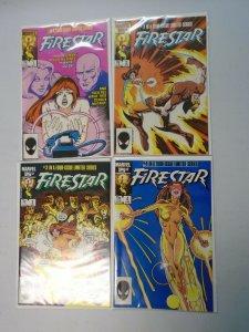 Firestar set #1-4 8.5 VF+ (1986)