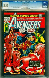Avengers #112 CGC Graded 8.0 First appearance of Mantis. Black Widow appearance.