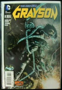 DC Grayson #3 Variant Monsters of the Month Cover The New 52 Batman