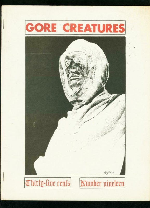GORE CREATURES FANZINE #19 1971-LON CHANEY PUPPET-PHANTOM OF THE OPERA VG/FN