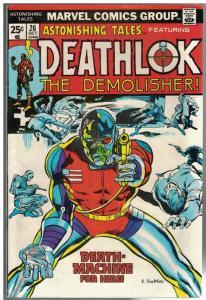 ASTONISHING TALES 26 VG+ Oct. 1974  Deathlok 2nd app