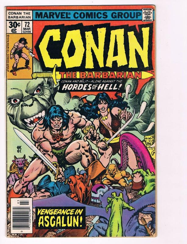 Conan The Barbarian # 72 Bronze Age Marvel Comic Books Hi-Res Scans WOW!!!!!! S2