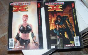 ultimate x-men # 28 29 return of the king pt 2 + 3  jean gray , wolverine cover