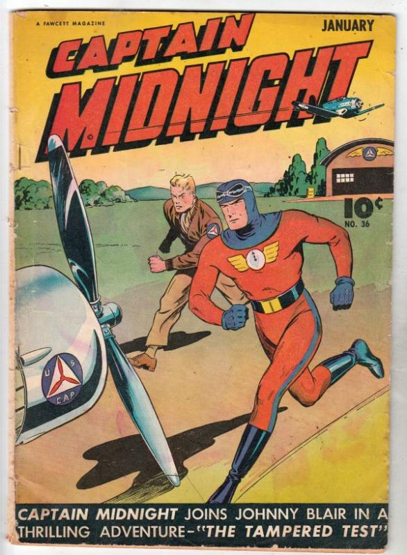 Captain Midnight #36 (Jan-46) VG Affordable-Grade Captian Midnight