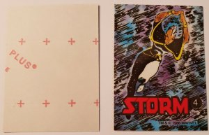 1986 MARVEL UNIVERSE SERIES STICKER #4 STORM NM UNCANNY X-MEN