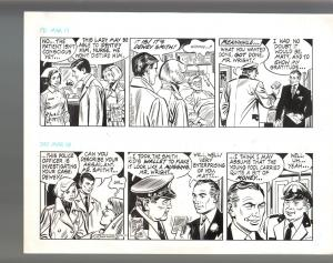 Winnie Winkle Original Double Daily Comic Strip Art 3/17 & 3/18 1989 Frank Bolle