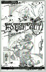 Bare Knuckled Fighter #0 VF rough cut signed by Quiles, Richards, Montanez 2006