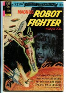 Magnus Robot Fighter #34 1969-Gold Key-Russ Manning-rocket cover-origin-G