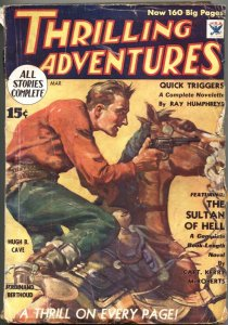 THRILLING ADVENTURES 1934 MAR-EARLY APPEARANCE LARRY WESTON-PULP FICTION
