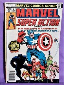 Stan Lee Captain America MARVEL SUPER ACTION #1 Jack Kirby (Marvel, 1977)!