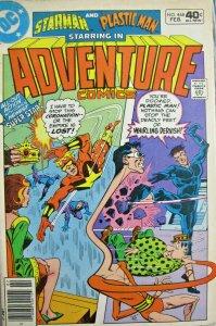 Starman and Plastic Man Adventure Comics #468 DC 1980 Bronze Age FN