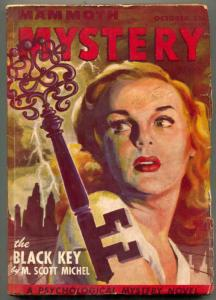 Mammoth Mystery Pulp October 1946- THE BLACK KEY- great cover
