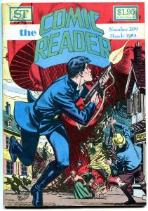 COMIC READER #209, VF+, Dan Spiegle, BlackHawk, Fanzine,1983, more in store
