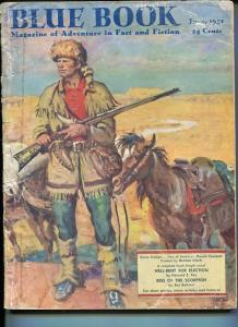 BLUE BOOK PULP-JUNE 1951-CLARK COVER-DAVY CROCKETT-SAX ROHMER-FOX-MCNEIL G/VG