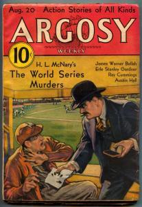 Argosy Pulp August 20 1932- World Series Murders FN