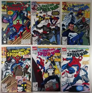 (6x) Amazing Spider-Man 353 to 358 Round Robin Sidekicks Revenge Full Set Marvel