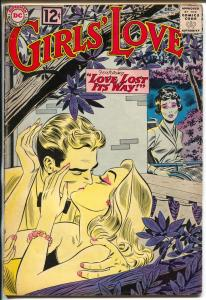 Girls' Love Stories #91-1962-DC-kiss cover-love triangle-G/VG