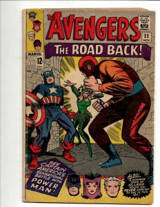 Avengers # 22 VG Marvel Comic Book Hulk Thor Iron Man Captain America BJ1