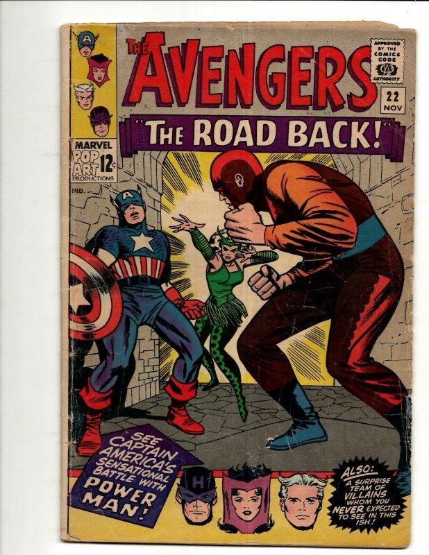 Avengers # 22 VG Marvel Comic Book Hulk Thor Iron Man Captain America BJ1