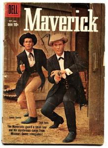 Maverick #7 1958-Dell-James Garner-Jack Kelly-TV photo cover G
