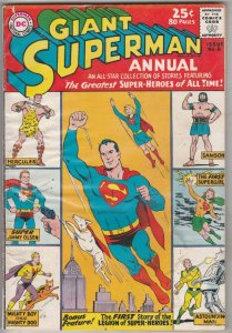 Superman Giant Annual #1 (Oct-60) VG+ Affordable-Grade Superman, Lois Lane, J...