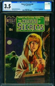 HOUSE OF SECRETS #92 CGC 3.5 1st SWAMP THING-BERNI WRIGHTSON 2024051001