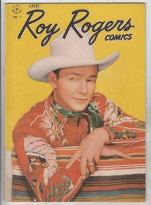 Roy Rogers Comics #1 (Jan-48) FN/VF+ High-Grade Roy Rogers