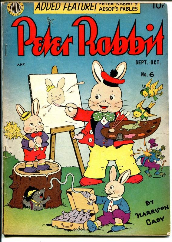Peter Rabbit #6 1949-Avon-last Harrison Cady issue-Aesop's Fables-FN+