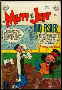 Mutt & Jeff #70 1954- Bud Fisher- DC Golden Age- Shoe Shoppe cover G/VG