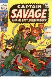 CAPTAIN SAVAGE (1968) 9 VERY FINE Dec. 1968 COMICS BOOK
