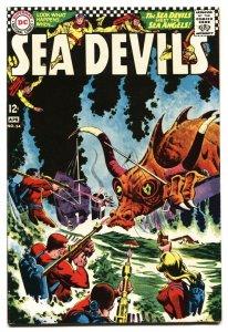SEA DEVILS #34 1966 Greytone cover-DC Silver-Age VF/NM