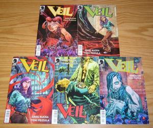Veil #1-5 VF/NM complete series - greg rucka - dark horse comics set lot 2 3 4
