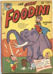 FOODINI #4--1950--ELEPHANT CIRCUS COVER-TV-PUPPETS--FINAL ISSUE--RARE