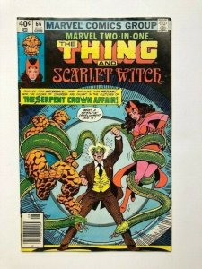MARVEL Two in one THE THING and SCARLET WITCH #66 VG/FINE (A296)