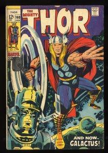 Thor #160 VG- 3.5 Galactus!